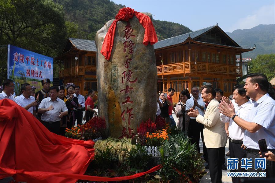 (社会)(1)袁隆平院士工作站在广西灌阳揭牌